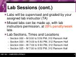 lab sessions cont