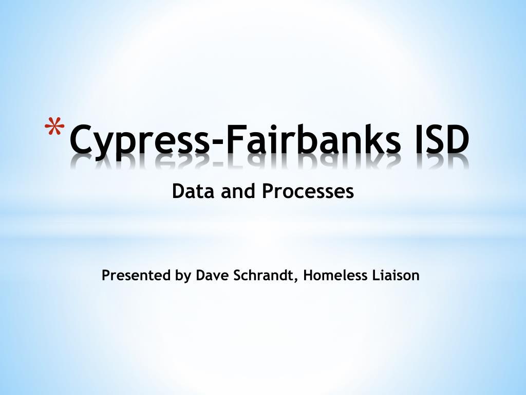 cypress fairbanks isd l.