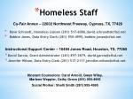 homeless staff