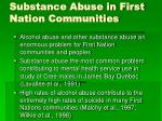 substance abuse in first nation communities