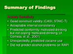 summary of findings48