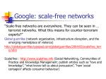 google scale free networks