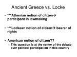 ancient greece vs locke