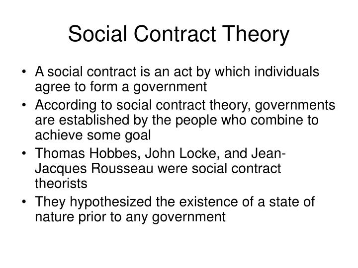 essay social contrast theory The social contract theory recognizes that individuals have their own natural rights some of which they surrender to their governments so that the latter can protect their remaining rights this paper seeks to show that while the social contract theory has many strengths.