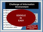challenge of information environment