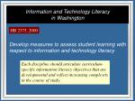 information and technology literacy in washington