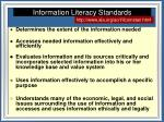 information literacy standards