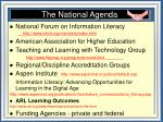 the national agenda