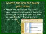 create the link for power point show