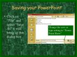 saving your powerpoint