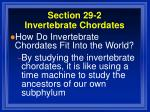 section 29 2 invertebrate chordates53