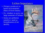 lichen importance