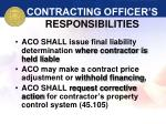 contracting officer s responsibilities