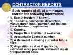 contractor reports