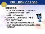 full risk of loss9