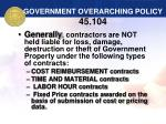 government overarching policy 45 104