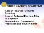 other liability concerns