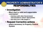 property administrator s responsibilities