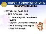 property administrator s responsibilities37