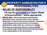 property administrator s responsibilities38