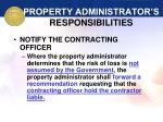 property administrator s responsibilities39
