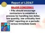 report of ldd t