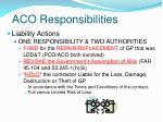 aco responsibilities35