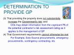 determination to provide gp10