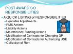 post award co responsibilities32