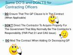 some do s and don ts for contracting officers43
