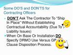 some do s and don ts for contracting officers44