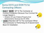 some do s and don ts for contracting officers45