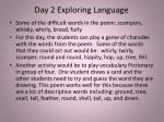 day 2 exploring language