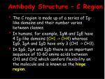 antibody structure c region