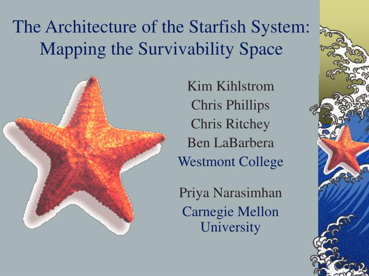 the architecture of the starfish system mapping the survivability space n.