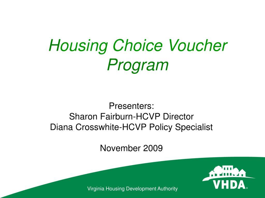 h ousing choice voucher program l.