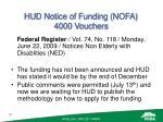 hud notice of funding nofa 4000 vouchers