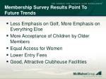 membership survey results point to future trends57