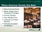 where american society has been
