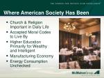 where american society has been47