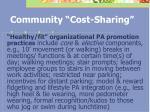 community cost sharing62
