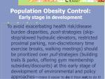 population obesity control early stage in development35