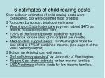 6 estimates of child rearing costs