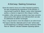 a third way seeking consensus