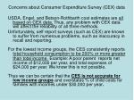 concerns about consumer expenditure survey cex data