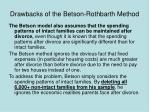 drawbacks of the betson rothbarth method37
