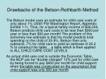 drawbacks of the betson rothbarth method41