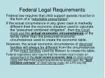 federal legal requirements