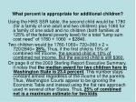 what percent is appropriate for additional children