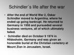 schindler s life after the war